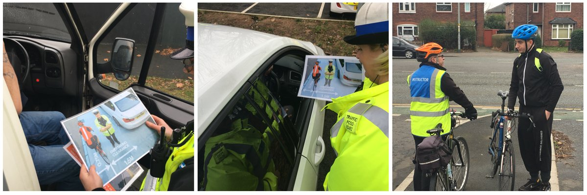 GMP showing drivers a printout of the WMP PR photo