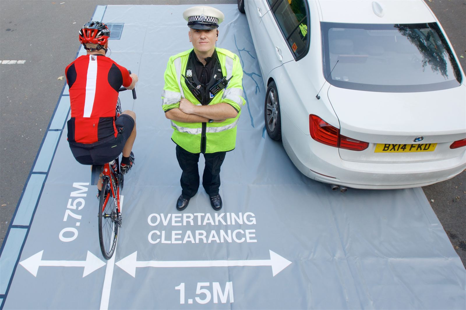West Midlands Police close pass education mat